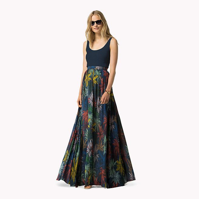Tommy Hilfiger Floral Skirt - tessa prt navy - Tommy Hilfiger Maxi - main image