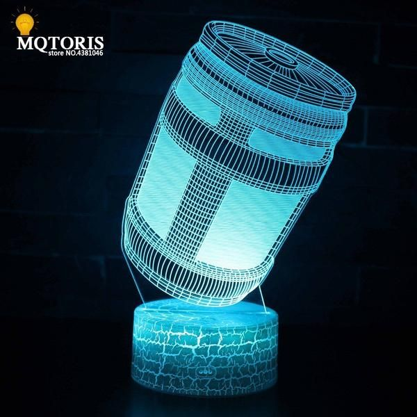 Icymi Fortnite 3d Led Lamp Novelty Lighting Night Light Kids Mood Lamps