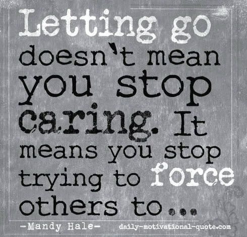 Letting go doesn't mean you stop caring.  It means you stop trying to force others to... Mandy Hale #westcoastaromatherapy #learnaromatherapy #learnaboutessentialoils #aromatherapycourses #aromatherapyschool #1iloveessentialoils #essentialoils4everyone