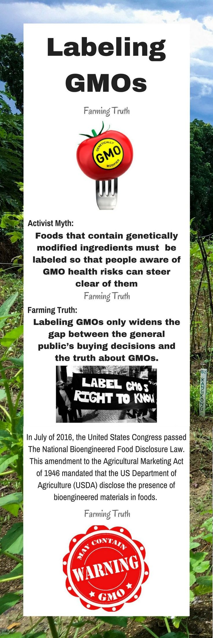 Although consumers have every right to know what's in there food, labeling GMOs is contributing to grocery shopper ignorance.
