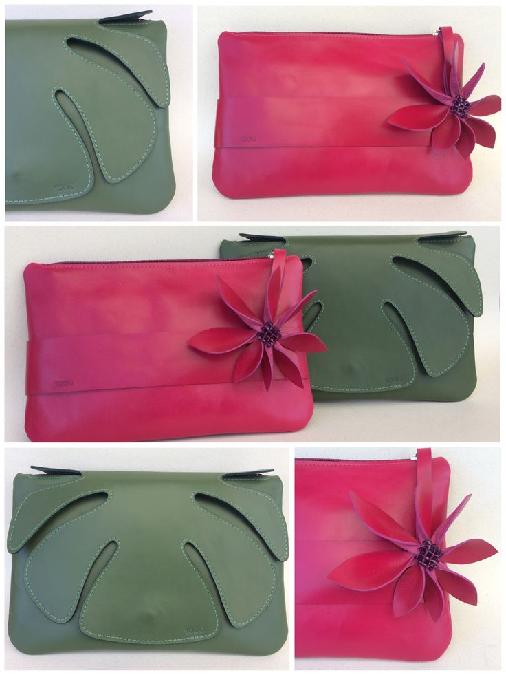 """Monte Carlo"" leather clutch variations"