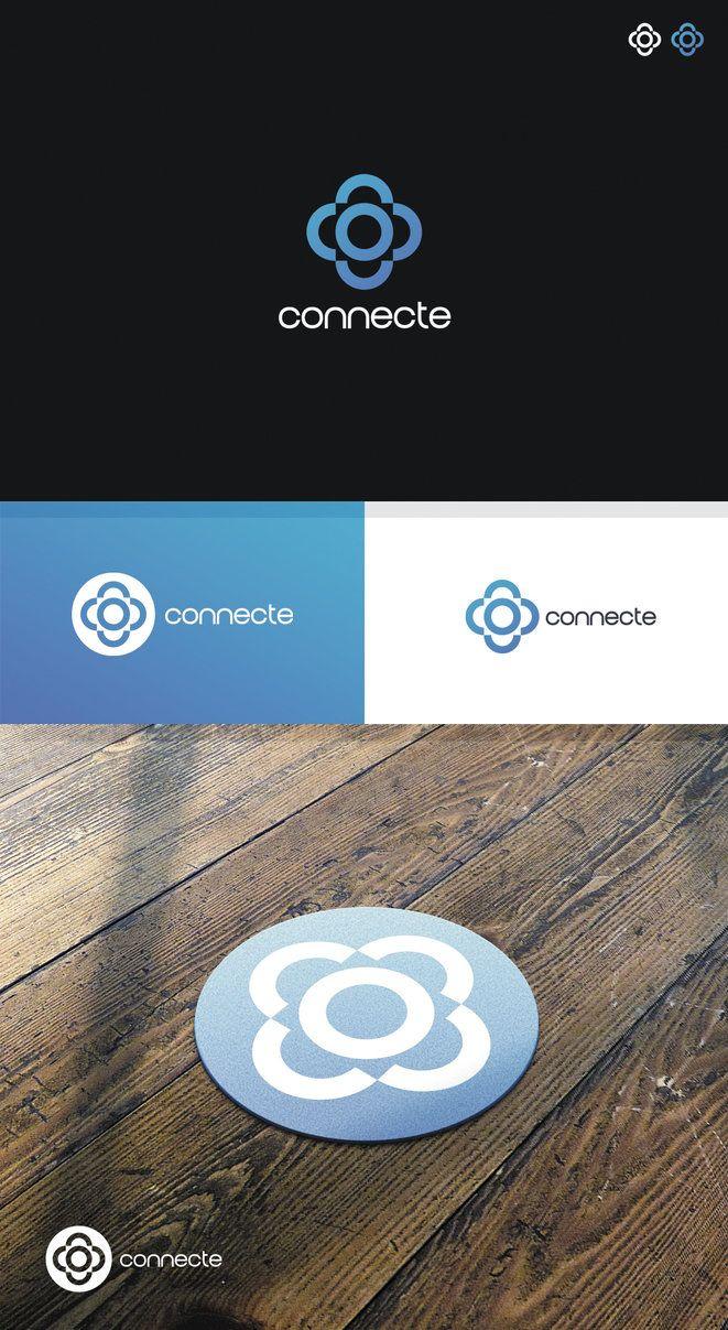 Connecte | Logo Design by attilakamasz