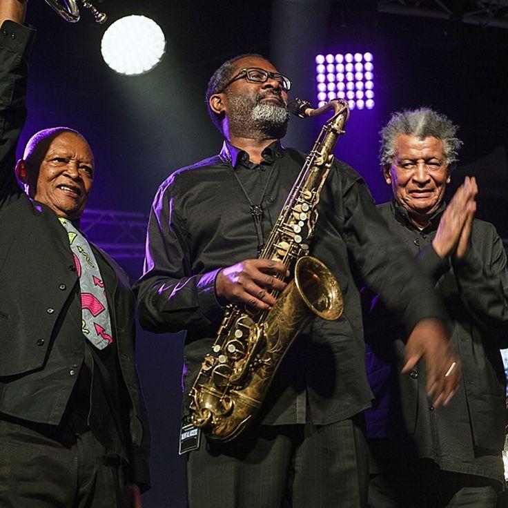Hugh Masekela,Ekayu saxophonist Lance Bryant, and Abdullah Ibrahim, from the Jazz Epistles Johannesburg shows last year