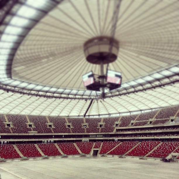 Found on Starpin. #stadium #warsaw #euro #stadion #naradowy #football #national #view #white #red #amazing #europe
