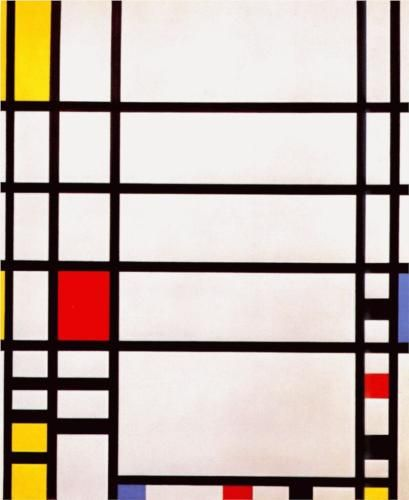 Trafalgar Square, Piet Mondrian, 1939-43. Museum of Modern Art, New York