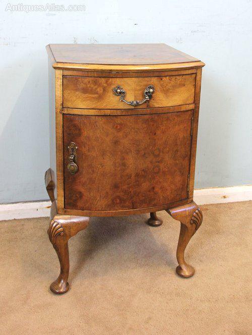 Antique Walnut Bedside Side Cabinet Antiques Atlas