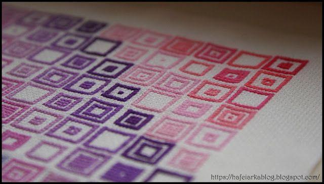Hafciarka: Kolorowe kwadraty - Colored squares