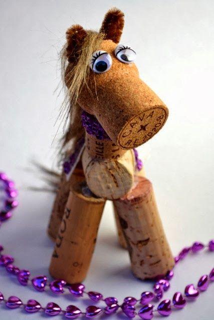 Condo Blues: Wine Cork Horse