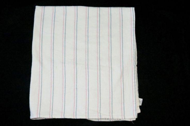 Standard Textile Hospital Flannel Blue Pink Pastel Stripe Receiving Baby Blanket #StandardTextile