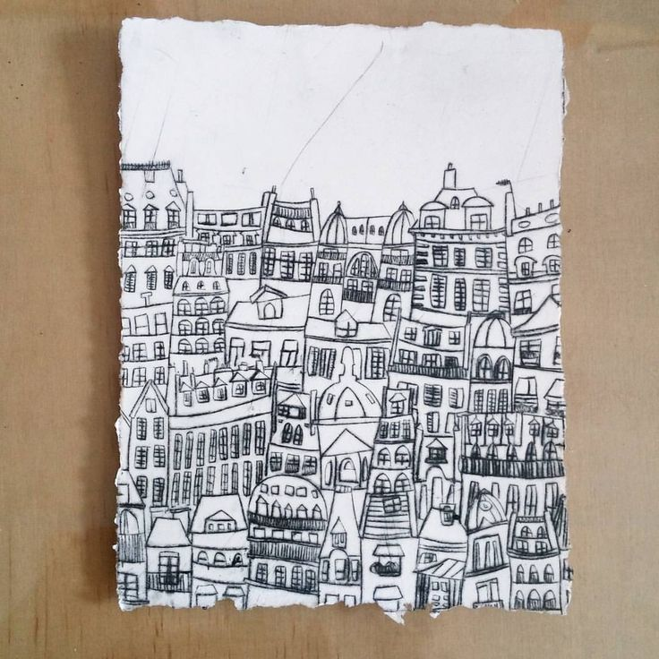 """129 Likes, 6 Comments - Beau Est Mien (@beauestmien) on Instagram: """"New drypoint print of Paris roof tops by Magali."""""""