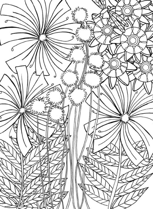 Printable Dandelion Coloring Page Desenhos Para Colorir Desenhos Colorir