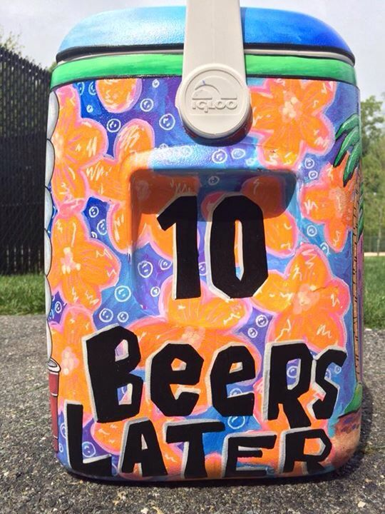 sponge bob 10 beers later fraternity cooler                              …