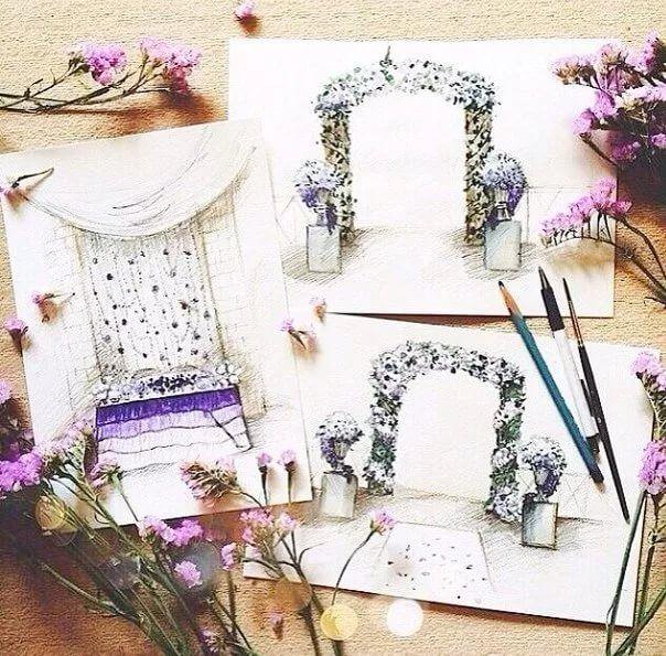 эскизы свадебного декора: 12 тыс изображений найдено в Яндекс.Картинках