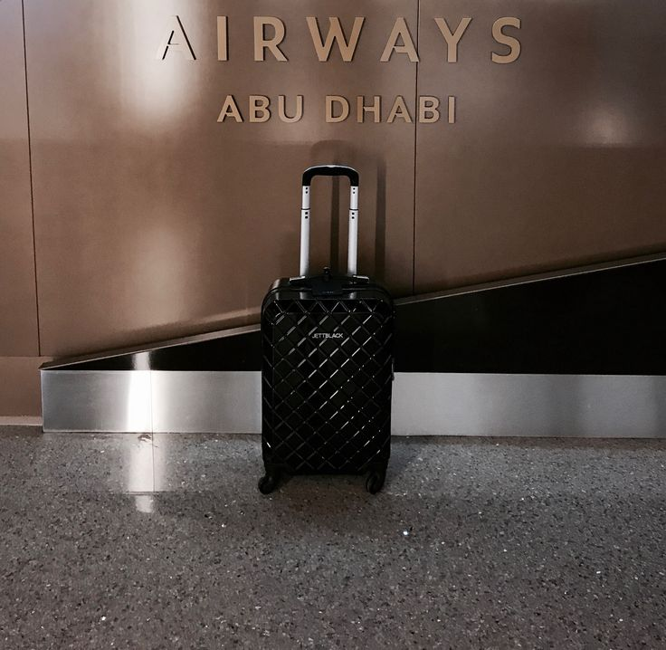 Checking In with Check Black Carry On. #JettBlackJetsetter #AbuDhabi #AirportStyle
