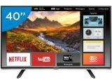 "Smart TV LED 40"" Panasonic Full HD - TC-40DS600B Conversor Digital Wi-Fi 2 HDMI 1 USB"