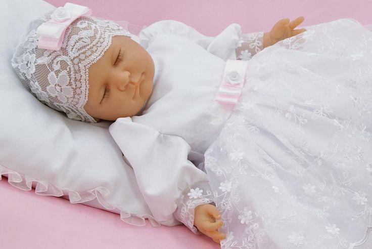 * Do chrztu ubranko sukienka Blanka bolerko R-74