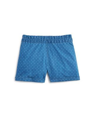 Bloomie's Girls' Dot Print Chambray Shorts - Sizes 2-6X | Bloomingdale's