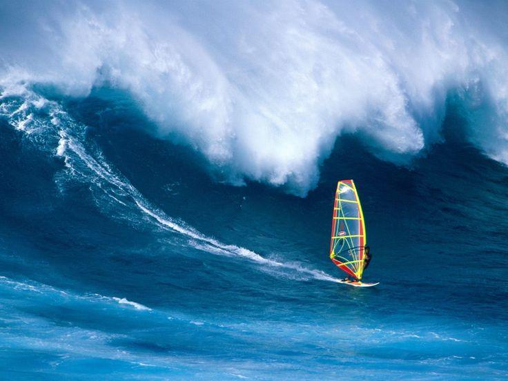 Windsurfing on the edge