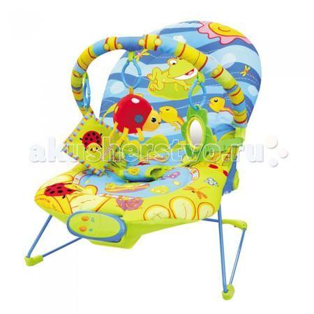 BabyHit Шезлонг BR  — 2490р. -----------------------------------  BabyHit Шезлонг BR  Особенности: Предназначен для детей от рождения до 6 месяцев Экологически чистые материалы и краски Виброрежим Звуковые эффекты Дуга с навесными игрушками