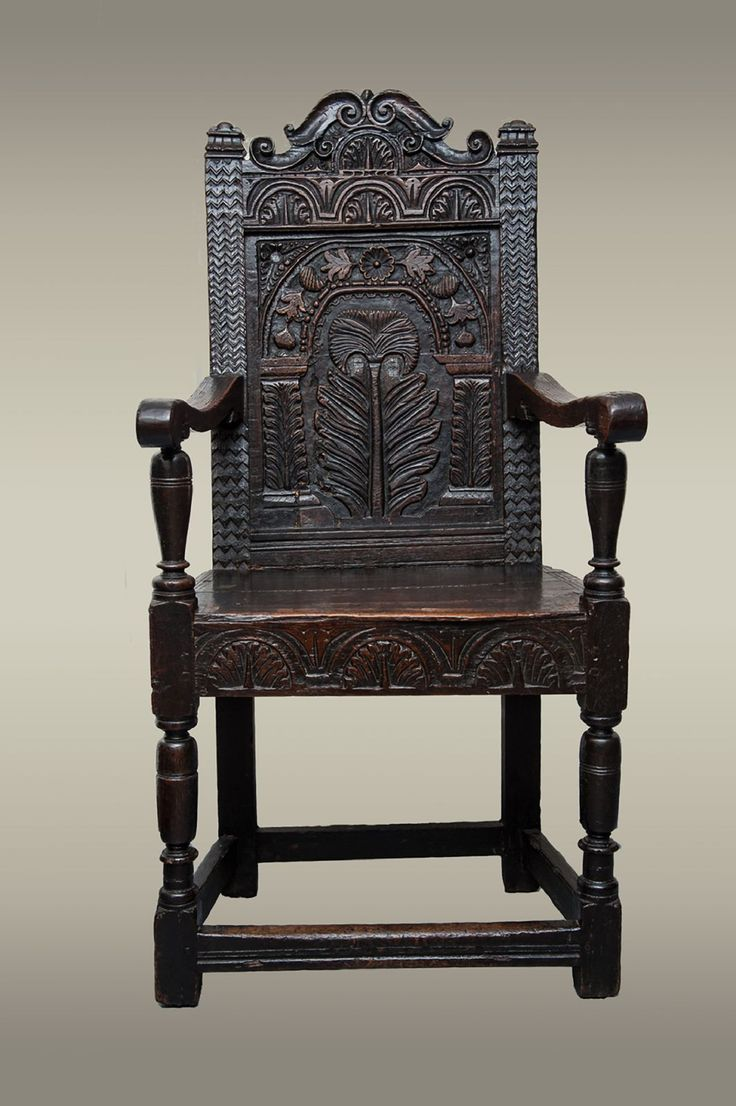 Gloucestershire Carved Oak Armchair Of Large Proportions