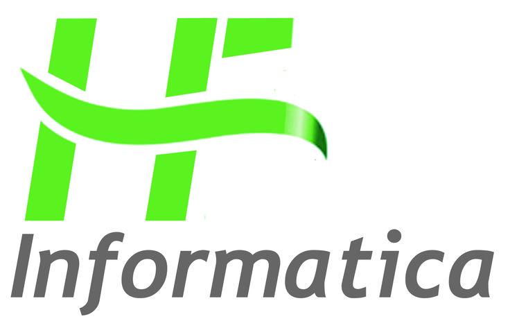 Il logo è formato da 2 parti: il Marchio (IF rappresentato graficamente) e il Logotipo (Informatica). Il lettering è a bandiera sinistra in carattere corsivo. Il Marchio IF è formato da diverse barre separate che insieme formano graficamente le due lettere I e F, collegate da un nastro. Ciò che si è voluto rappresentare è l'idea di team formato da un gruppo che lavora insieme e si collegano reciprocamente.
