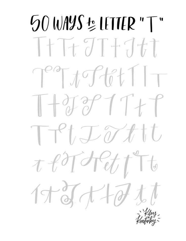 50 Möglichkeiten, den Buchstaben T zu lettern