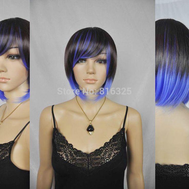 Оптовая DM32028> новые женские фантазии платье парики cosplay волос парик смешанный цвет короткий БОБ стиль парик