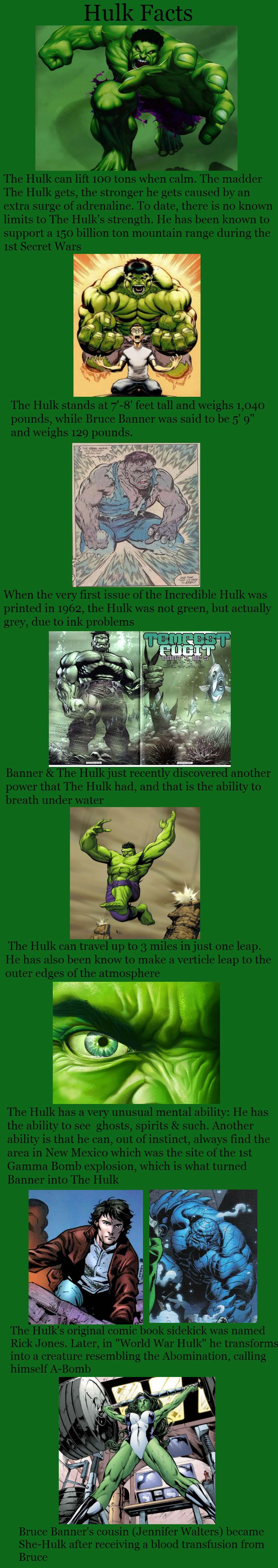 The Hulk Facts  // funny pictures - funny photos - funny images - funny pics - funny quotes - #lol #humor #funnypictures