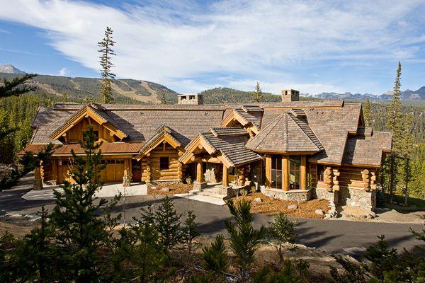 Big Sky Montana Log Home Retreat Spanish Peaks Mountain