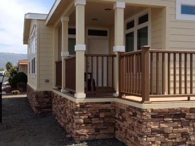 Manufactured home front porch here are some great photos for Manufactured stairs
