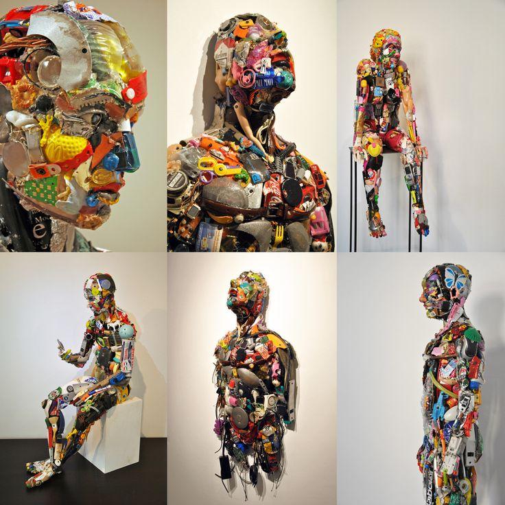 Dario Tironi, sculptures made out of junk, art, sculpture