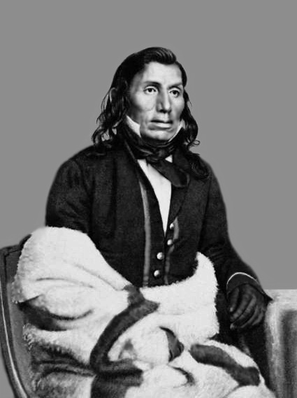 Little Crow, the Mdewakanton Sioux chief, was the recognized leader of the Minnesota massacre of 1862. Following the massacre, Little Crow and some of his followers fled westward. Returning to Minnesota on a horse stealing expedition, he was shot and killed by Chauncey Lamson, a settler, on July 3, 1863. Lamson took Little Crow's scalp to collect a bounty. The Minnesota Historical Society later displayed his skeleton and scalp, eventually returning them to the Sioux for proper burial.