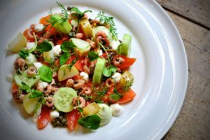 Seafood dish from James Durrant at the Plough