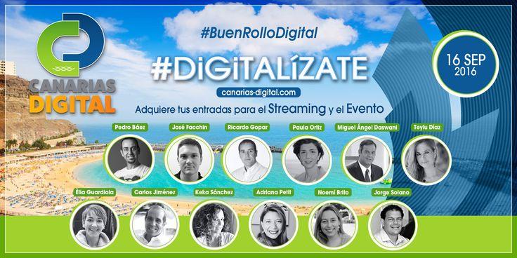 No te puedes perder vivir el evento mas grande de Marketing Digital. Únete al #BuenRolloDigital y ve a www.canarias-digital.com y compra tu entrada