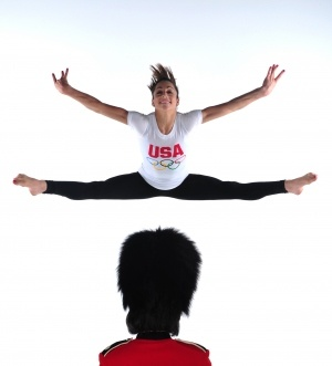Jordyn Wieber's straddle jump in a Team USA/USOC promo shoot for the 2012 London Olympic Games.