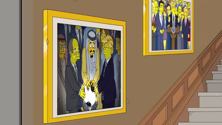 The Simpsons Predict Donald Trumps Viral Glowing Orb Photo In Fake Meme