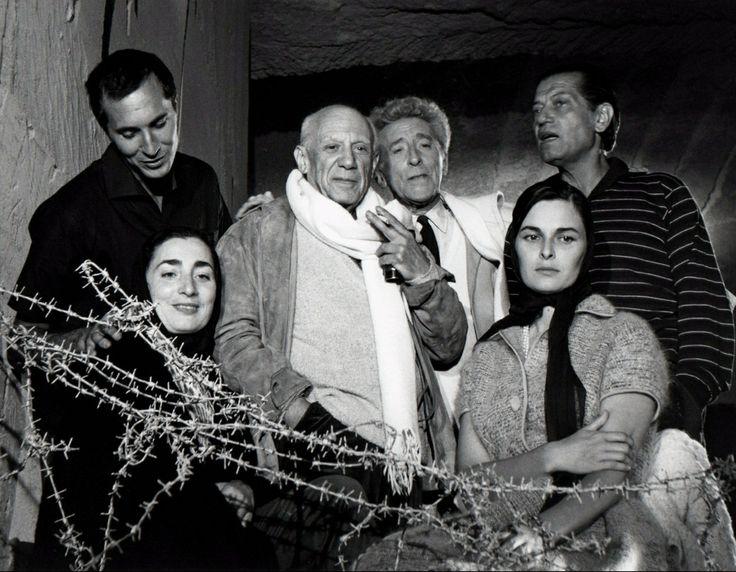 Lucien Clergue:Picasso in Les Baux (1959) with Luis Dominguin Jacqueline Picasso, Jean Cocteau, Lucia Bosé, Serge Lifar