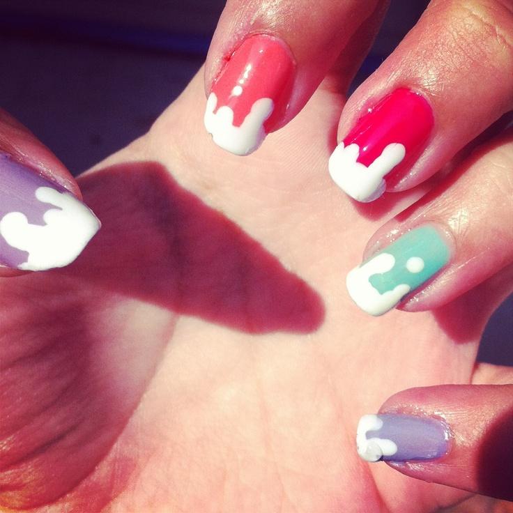 Wet paint nails