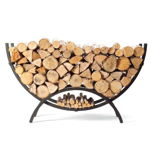 The Woodhaven Small Crescent Firewood Rack