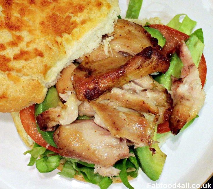 ActiFry Chicken Thighs, chicken in a bun, salad, cheap, quick, easy, dinner, recipe