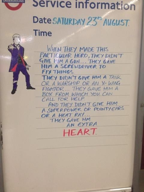 Doctor Who and London Underground collide with amazing sign