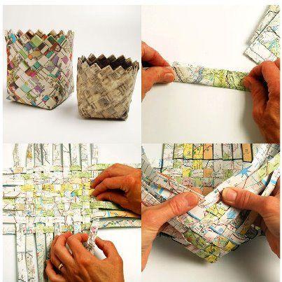 Mi mamá hacía cestas de papel periódico todo el tiempo y teníamos una de estas en cada esquina de la casa. Las puedes hacer con periódico, revistas, o cualquier papel reciclable y para que te duren mas te aconsejo aplicar una capa de barníz de madera. Haz la tuya y comparte tu foto en nuestro …