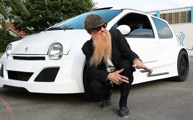 So, ZZ Top's Billy Gibbons drives a 300bhp #Renault Twingo. Umm...