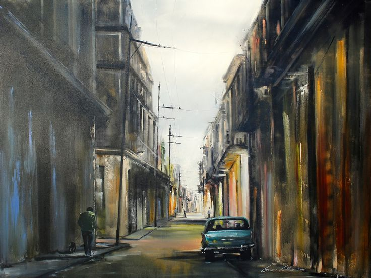 Gavin Collins Paintings Title: Cuba Size: 2m x 1,5m