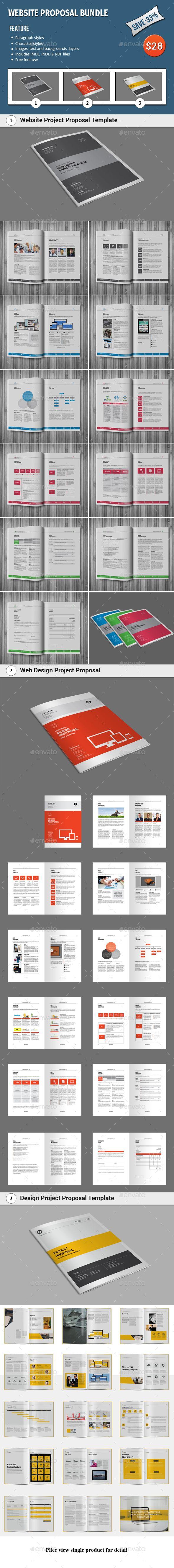 Website Proposal Bundle Templates InDesign INDD. Download here: http://graphicriver.net/item/website-proposal-bundle/16118076?ref=ksioks