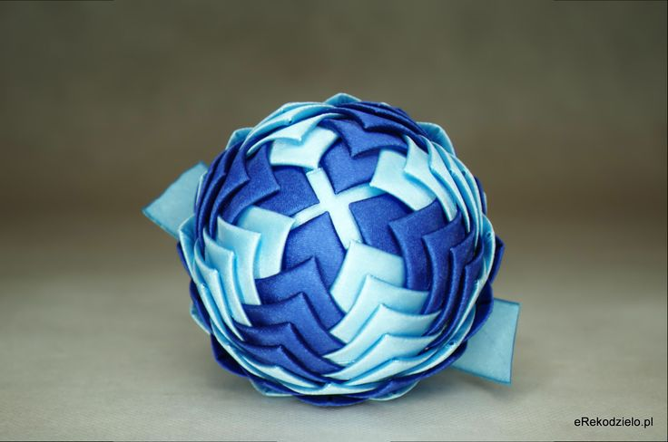 Bombka granat i błękit - B-009