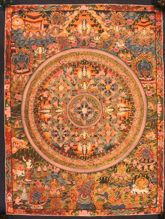 Mandala Thangka Painting Tibetan Handmade in by ShakyaHandicraft