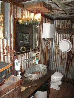 Corrugated Tin Bathroom Ideas