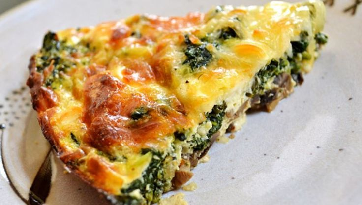 nice Crustless Spinach, Onion and Feta Quiche