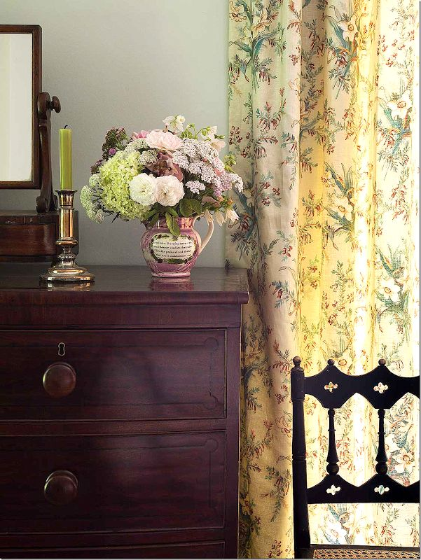 yellow floral curtains Jean Monro u201cBownessu201d fabric